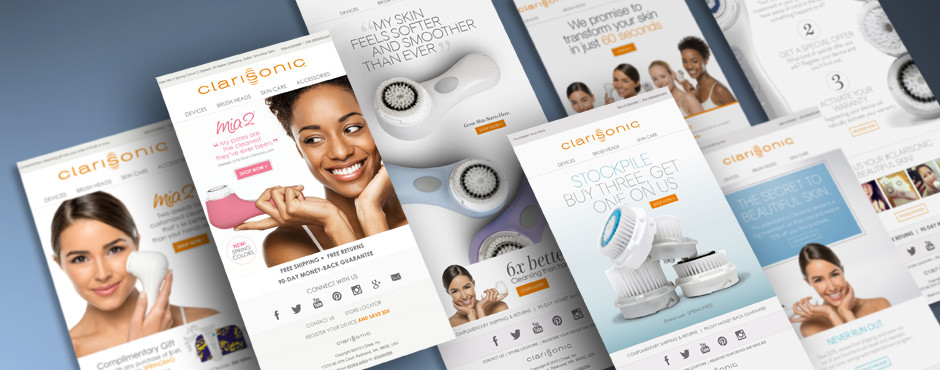 O'Berry Collaborative managed the Clarisonic email marketing program for more than 8 years. We developed 1,000+ emails, and helped grow their email subscribers to more than half a million.