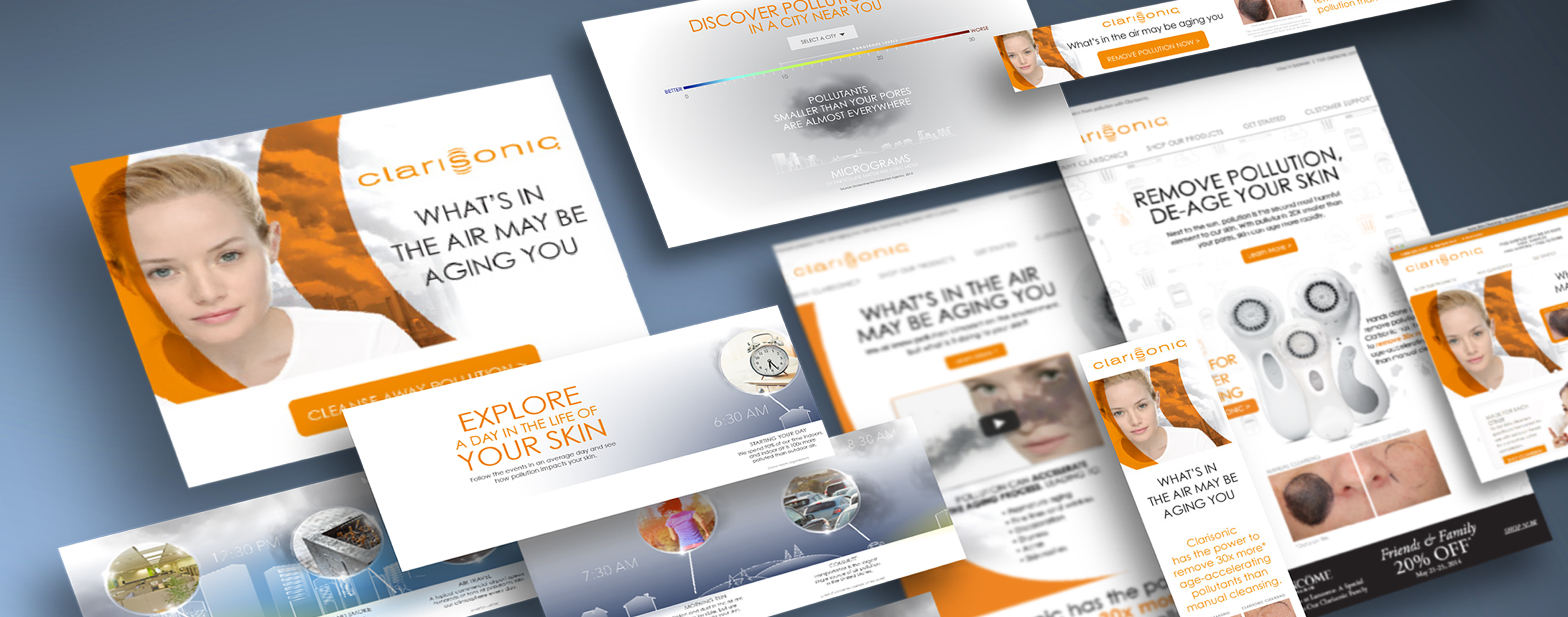 O'Berry Collaborative created an integrated marketing campaign for Clarisonic, including a digital marketing launch featuring an interactive website landing page.