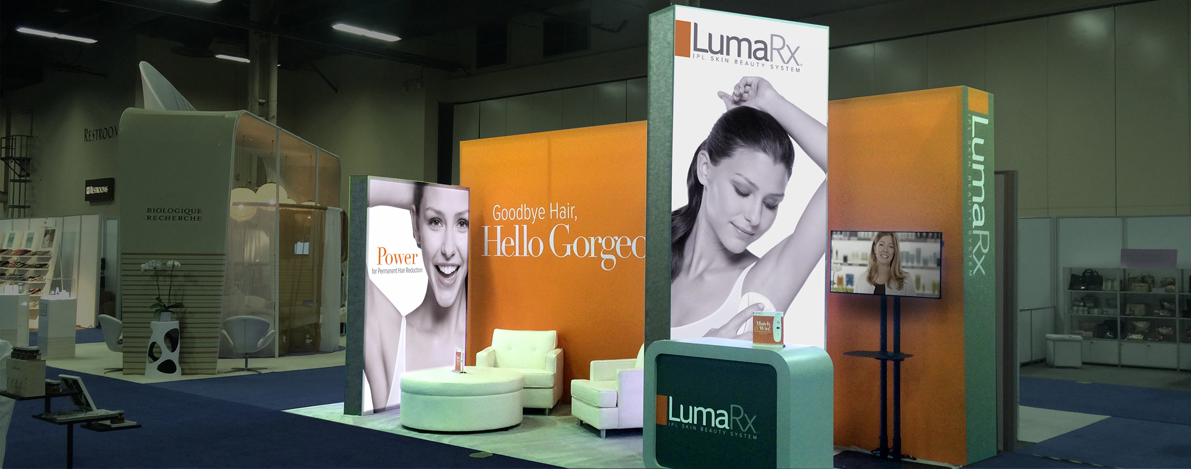 O'Berry Collaborative developed a tradeshow booth concept and design for LumaRx.